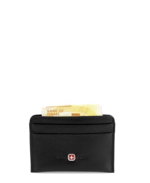 ארנק קטן לגבר סוויס כרטיסים דו צדדי שחור