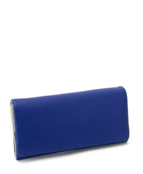 ארנקים לנשים נטע שדה ארנק אקורדיון גדול כחול אפור