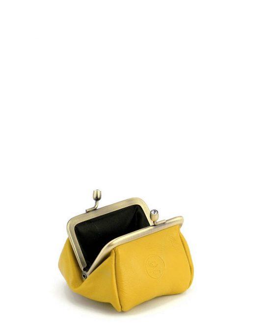 ארנק נשים לכסף קטן מנעול קטן צהוב