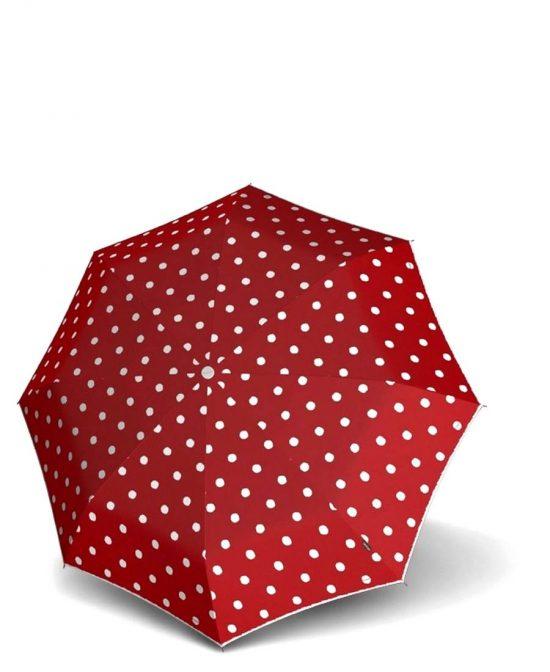 מטריות קנירפס מטרייה בינונית קטנה פתיחה סגירה אוטו' אדום מנוקד.