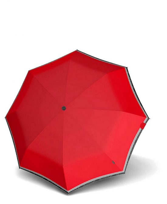 מטריות קנירפס מטרייה בינונית קטנה פתיחה סגירה אוטו' אדום קצה אפור.