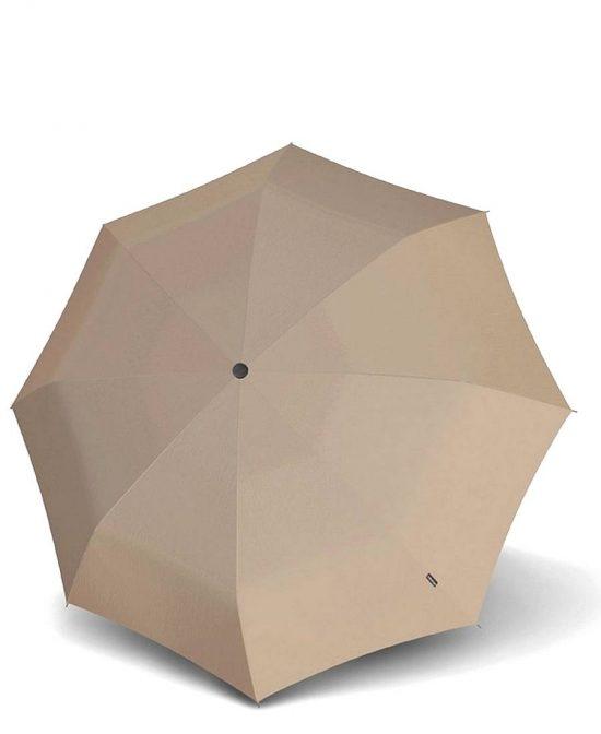 מטריות קנירפס מטרייה קיץ בינונית קטנה פתיחה סגירה אוטו' חום אפור.