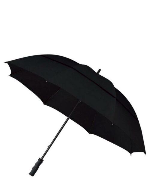 מטרייה אוטומטית ענקית לימים סוערים עם רוחות חזקות בעלת חופה כפולה עם פתח לבריחת אויר..