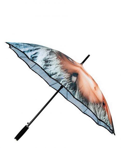 מטרייה לנשים אימפליוה אוטומטית חזקה במיוחד מנגנון מוטות כפולים הדפס אישה