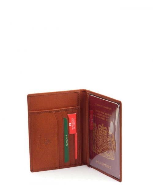 נרתיק כיסוי עור לפספורט דרכון חום 1