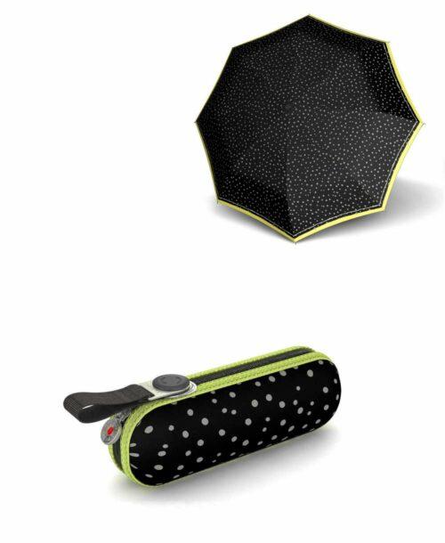 מטרייה קומפקטית איכותית קנירפס קפסולה שחור מנוקד