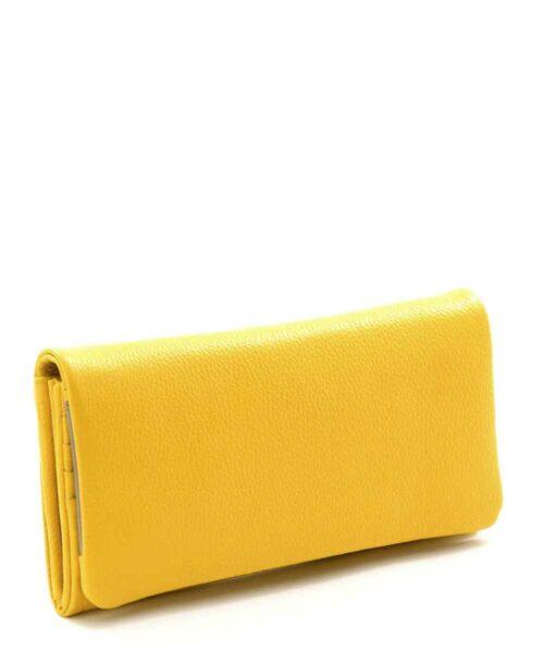ארנקים לנשים נטע שדה ארנק אקורדיון גדול צהוב אפור