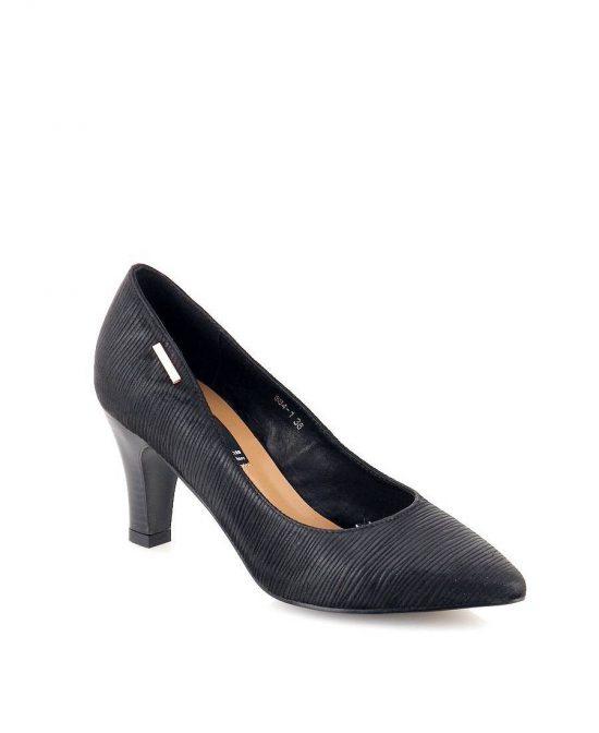 נעלי נשים גויה נעל עקב שחור פסים