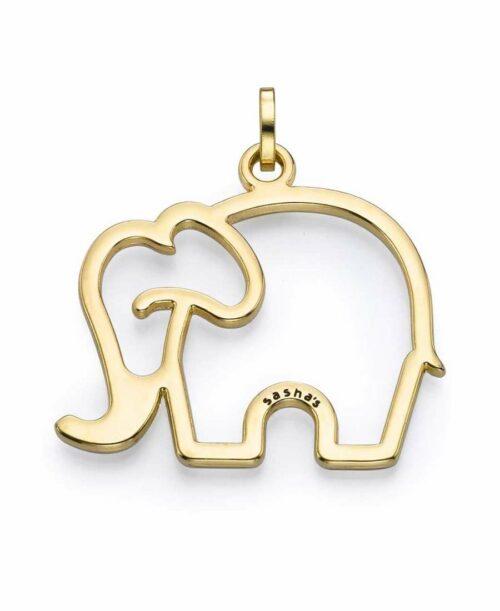 תליון סאשה פיל חלול זהב