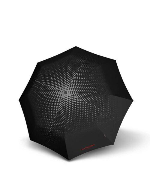 מטרייה בינונית איכותית קנירפס אוטומטית חזקה אפור מנוקד