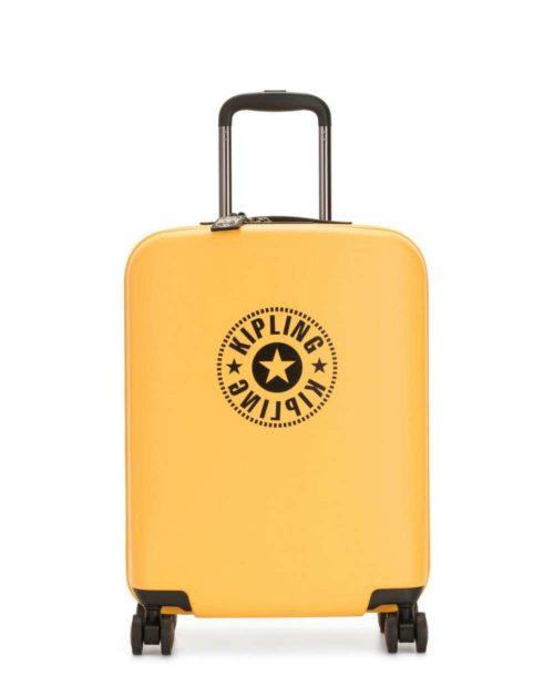 Kipling קיפלינג מזוודה קשיחה עליה למטוס צהוב