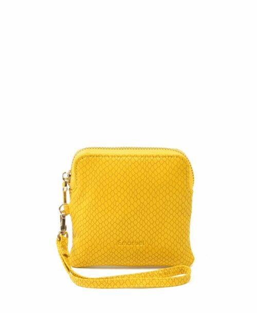 ארנק קטן לנשים עמנואל מיילי נחש צהוב
