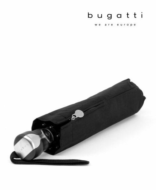 מטריה חזקה מתקפלת אוטו בוגאטי טוריסמו שחור Bugatti Umbrella, מטריות מתקפלות אוטומטיות איכותיות.