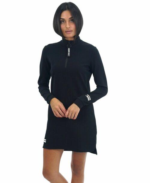 שמלת מיני סטיב מאדן שרוול ארוך שחור