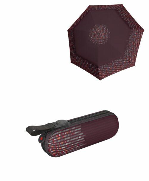 מטרייה קומפקטית איכותית קנירפס קפסולה בורדו לילי