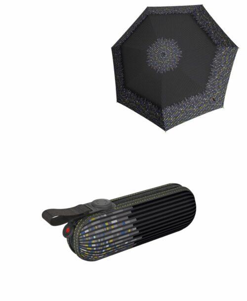מטרייה קומפקטית איכותית קנירפס קפסולה שחור לילי
