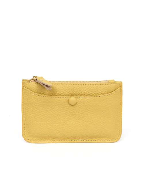 ארנק קטן לאישה כיס צהוב, ארנקים לנשים.