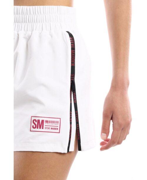 מכנסי ספורט קצרים לנשים סטיב מאדן לבן