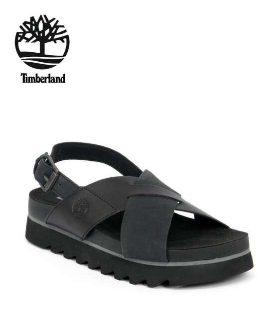 סנדלי פלטפורמה טימברלנד שחור, סנדלים לנשים טימברלנד TIMBERLAND SANDAL