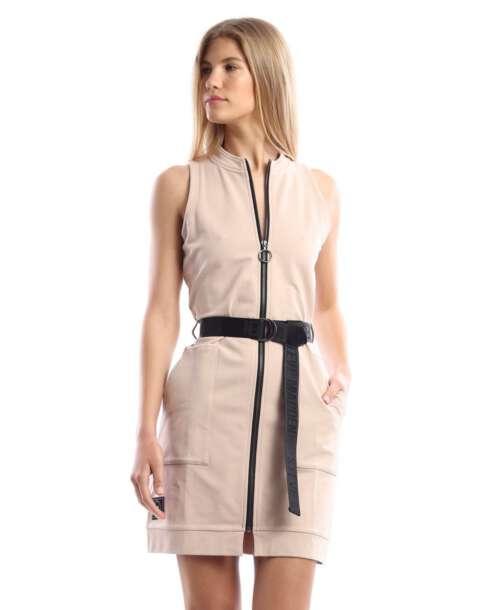 סטיב מאדן שמלת מיני עם חגורה קאמל