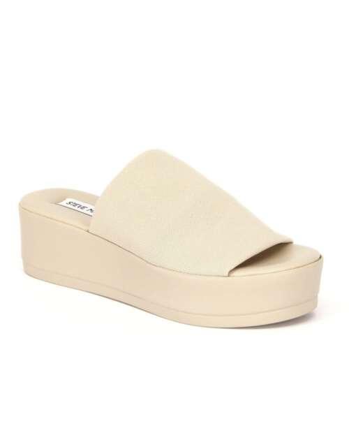 כפכפי פלטפורמה סטיב מאדן בד אבן, נעלי נשים.