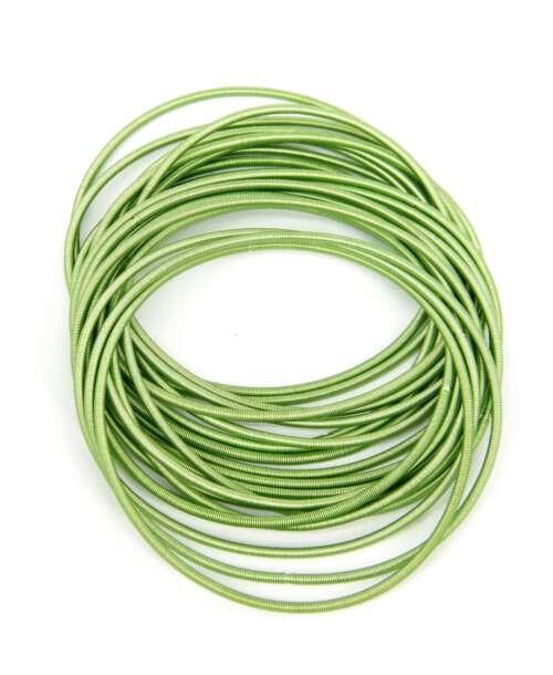 צמיד קפיץ אל חלד ירוק, צמידי קפיץ.